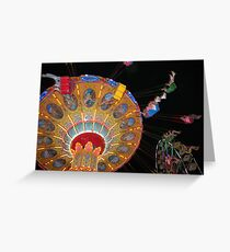 Swing Ride in Action Greeting Card