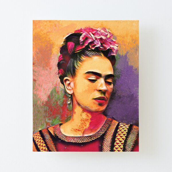 Frida Kahlo Art Canvas Mounted Print