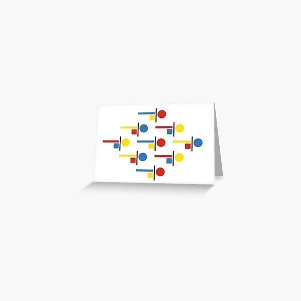 Bauhaus Komposition  Greeting Card
