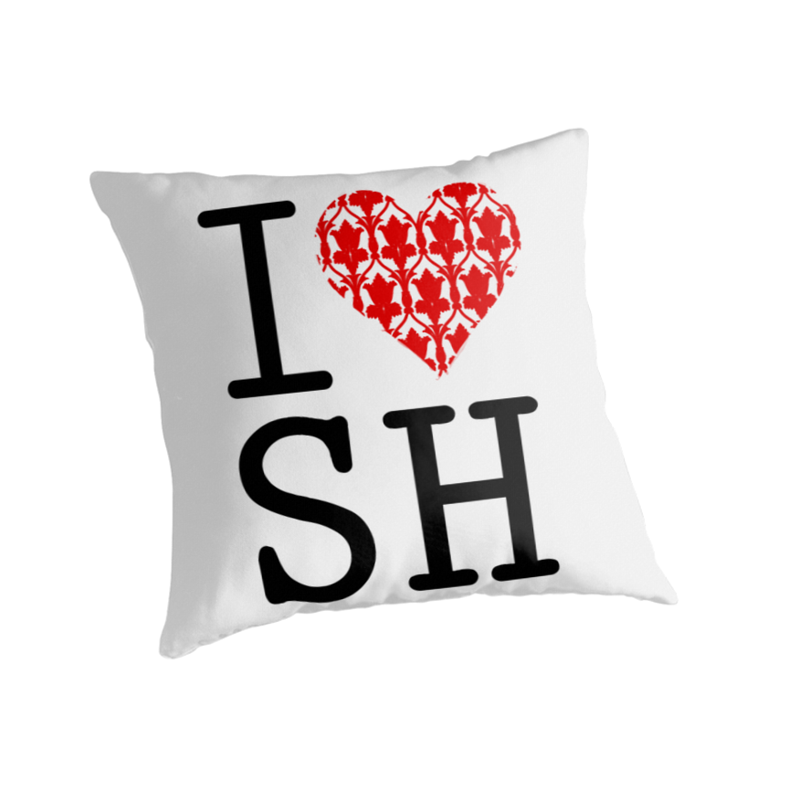 Quot I Love Sh Red Quot Throw Pillows By Cumberqueen Redbubble