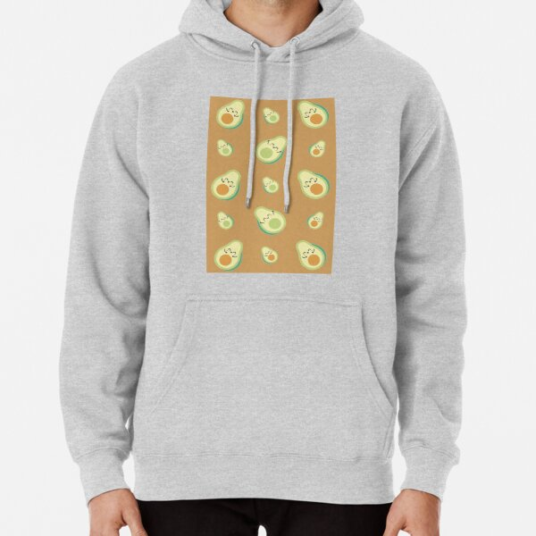 Uneven Pattern Pullover Hoodie