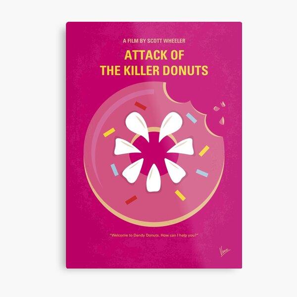 No1261 My Attack of the Killer Donuts minimal movie poster Metal Print