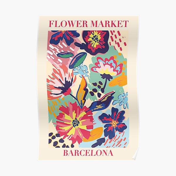 Flower Market Barcelonas Poster