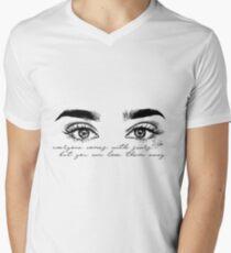 Camiseta para hombre de cuello en v Lauren Jauregui 7/27