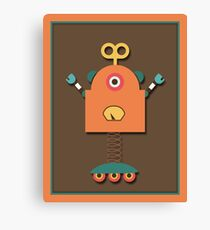 Cute Retro Robot Toy Canvas Print