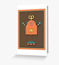 Cute Retro Robot Toy Greeting Card