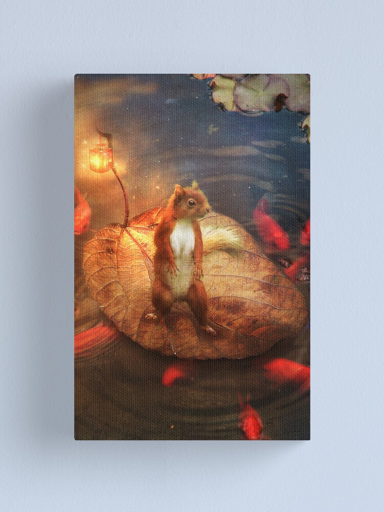Alternate view of Columbus the Squirrel Canvas Print
