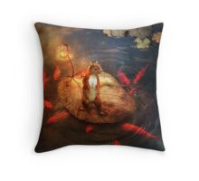 Columbus the Squirrel Throw Pillow