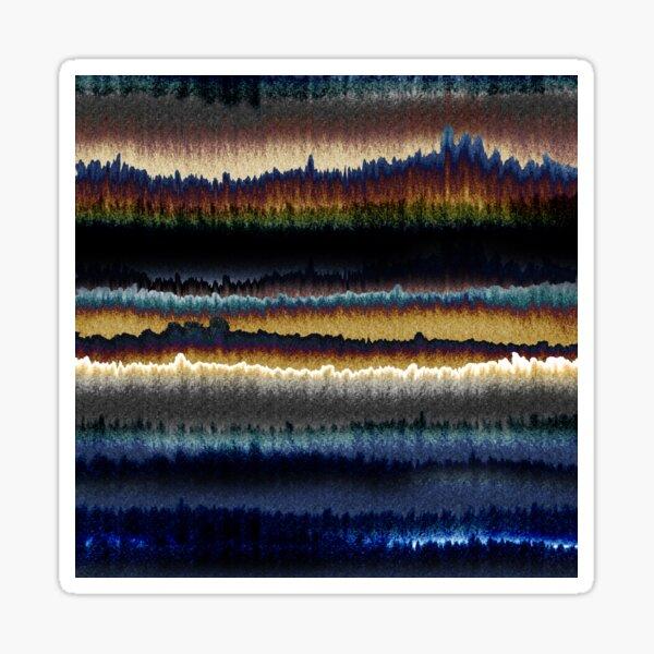Modern Dip dye watercolor mix texture pattern Sticker