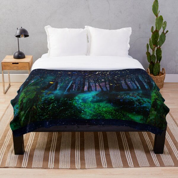Firefly Forest  Throw Blanket