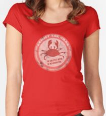 Sammy the crab Women's Fitted Scoop T-Shirt