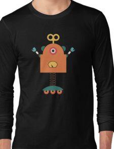 Cute Retro Robot Toy Long Sleeve T-Shirt