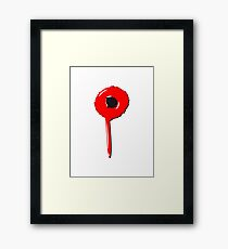 Blob drip blood bullet Framed Print