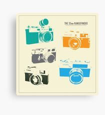Vintage Cameras - The 35mm Rangefinder Canvas Print