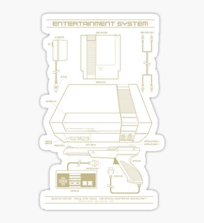 Entertainment System Sticker