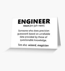 """Engineer"" funny definition Greeting Card"