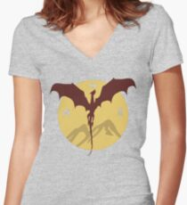 Smaug The Stupendous Women's Fitted V-Neck T-Shirt