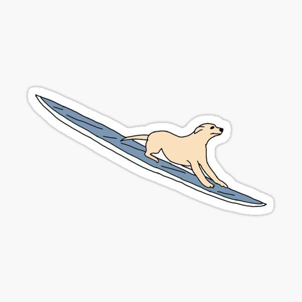 autocollant chien sur planche de surf Sticker