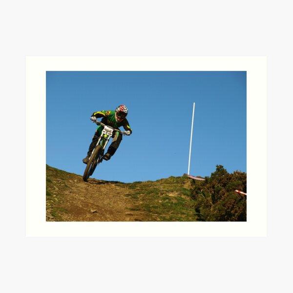 Mountain biker on skyline Art Print