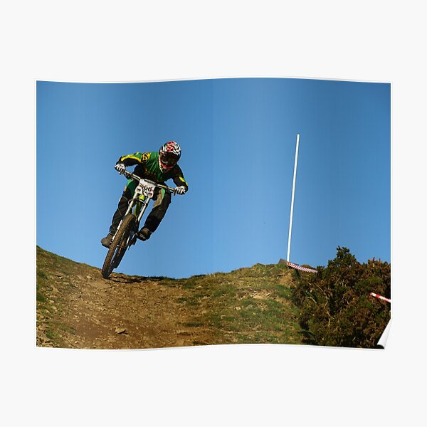 Mountain biker on skyline Poster