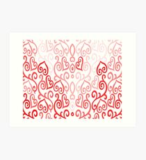 Hearted Pink Art Print