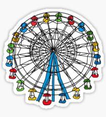 colorful ferris wheel  Sticker