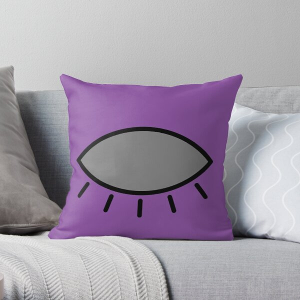 Closed eye - purple Throw Pillow
