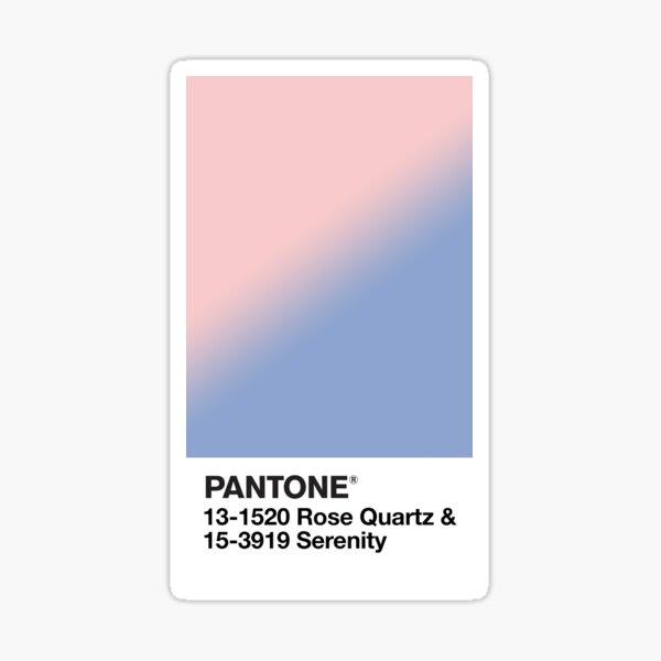 Rose Quartz and Serenity Pantone Sticker