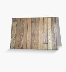 Hardwood Collection #1 - Dark Aged Wood Greeting Card