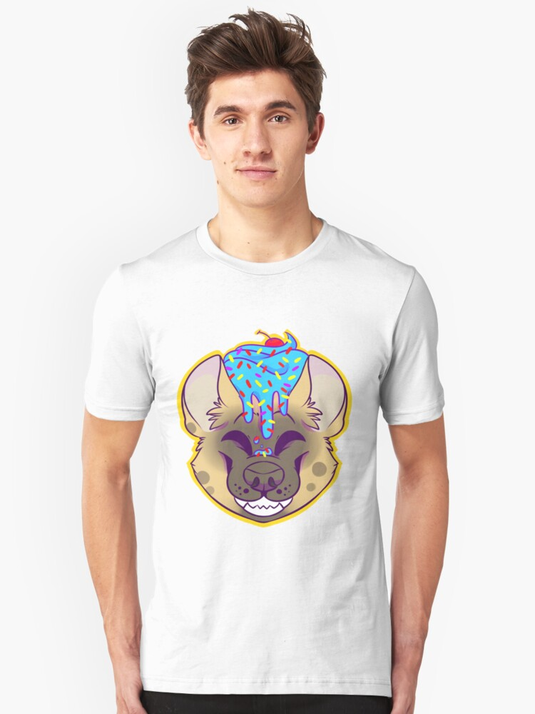 Cupcake Spotted Hyena Unisex T-Shirt Front