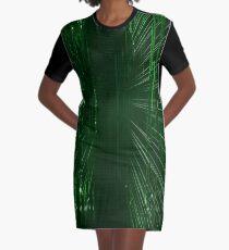 Green Lights - Matrix effect Graphic T-Shirt Dress