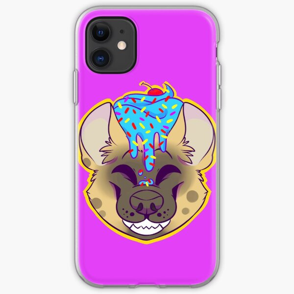 Cupcake Spotted Hyena iPhone Soft Case