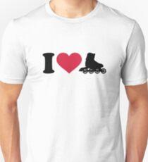 I love Inline skates Unisex T-Shirt