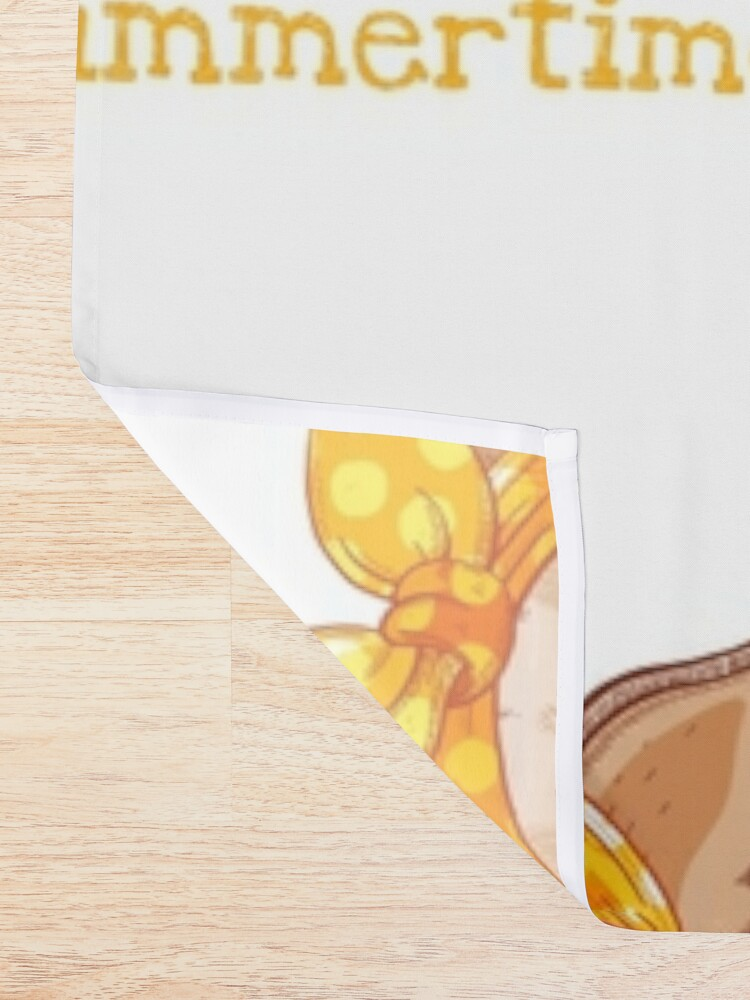 Alternate view of Chihuahua dog in fashion headband and glasses Shower Curtain