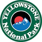 YELLOWSTONE NATIONAL PARK WYOMING MOUNTAINS HIKING CAMPING HIKE CAMP  by MyHandmadeSigns