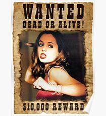 Buffy Faith Wanted Eliza Dushku 3 Poster