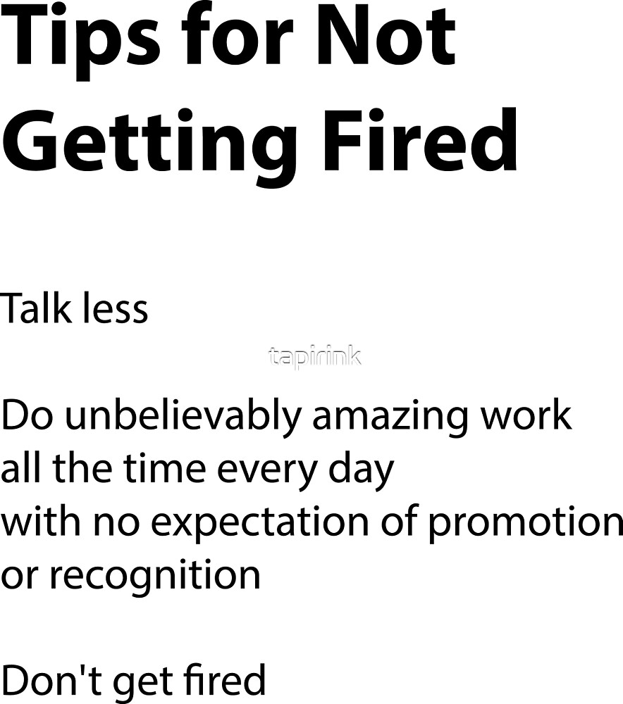 not fired by tapirink