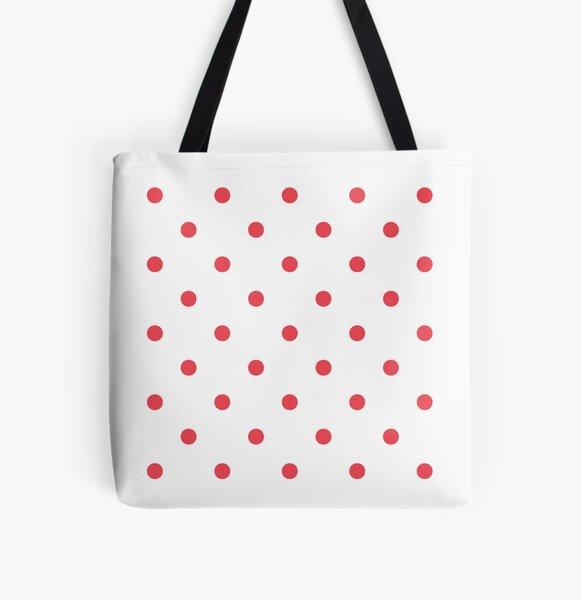 Blush polka dots All Over Print Tote Bag