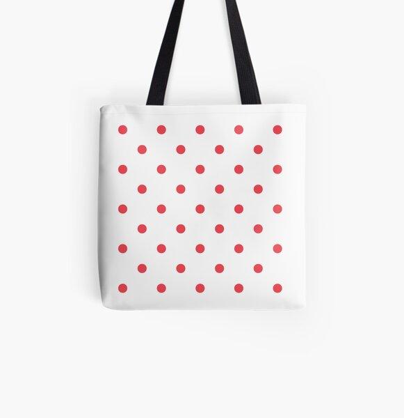 Blush polka dots Tote bag doublé