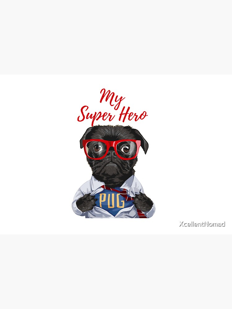 My Super Hero Pug! The cutest pug on store. Premium T-Shirt by XcellentNomad