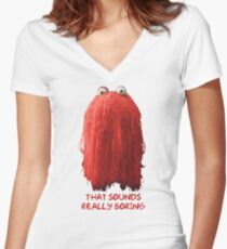DHMIS - Boring Don't Hug Me I'm Scared 1 Women's Fitted V-Neck T-Shirt