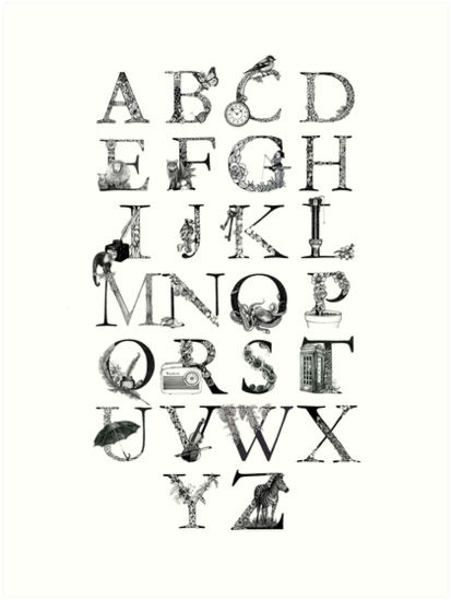 Illustrated Alphabet by JuliaHillArt