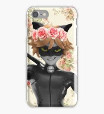 Chat Noir the flower child iPhone Case/Skin