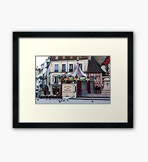 early morning at the carrousel Dijon France  Framed Print