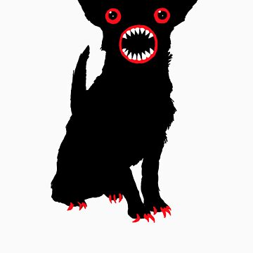 Black dog by Monkeymo