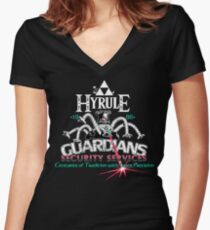 Zelda Breath of the Wild Hyrule Guardians Women's Fitted V-Neck T-Shirt