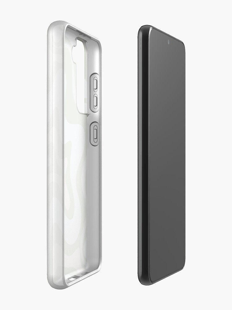 Alternate view of Liquid Swirl Contemporary Abstract in Light Sage Green Grey Almond Samsung Galaxy Phone Case