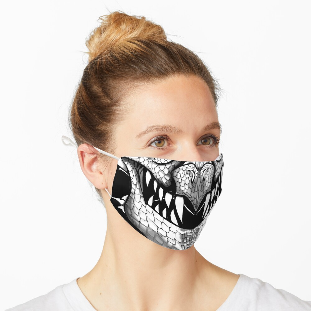 White Dragon Spirit Mask Mask