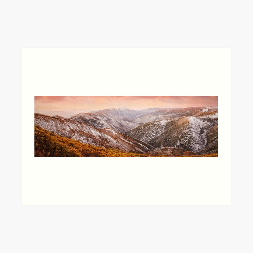 Mt Feathertop Sunset, Victoria, Australia Art Print