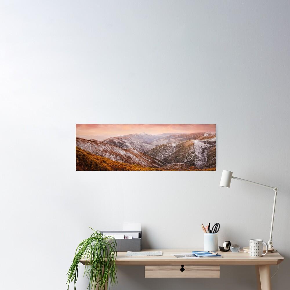 Mt Feathertop Sunset, Victoria, Australia Poster